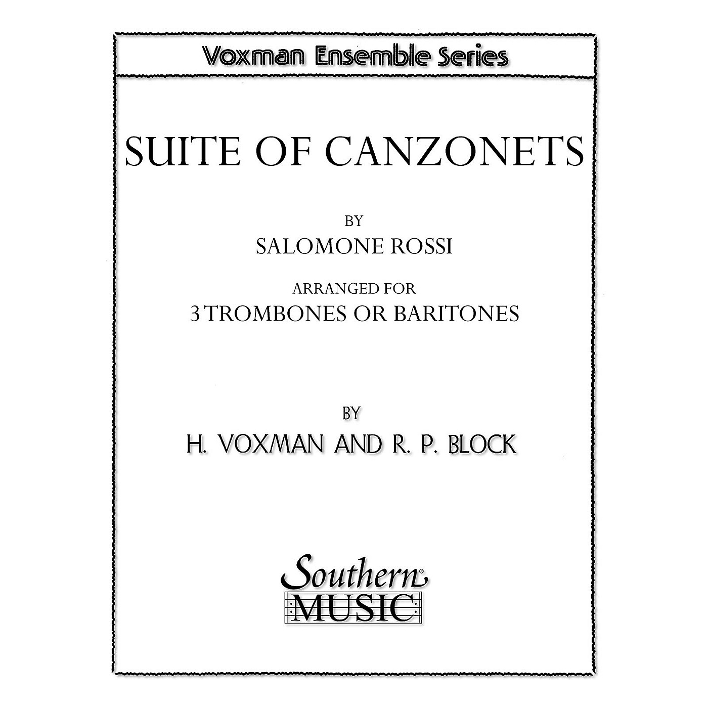Southern Suite of Canzonets (Trombone Trio) Southern Music Series Arranged by Himie Voxman thumbnail