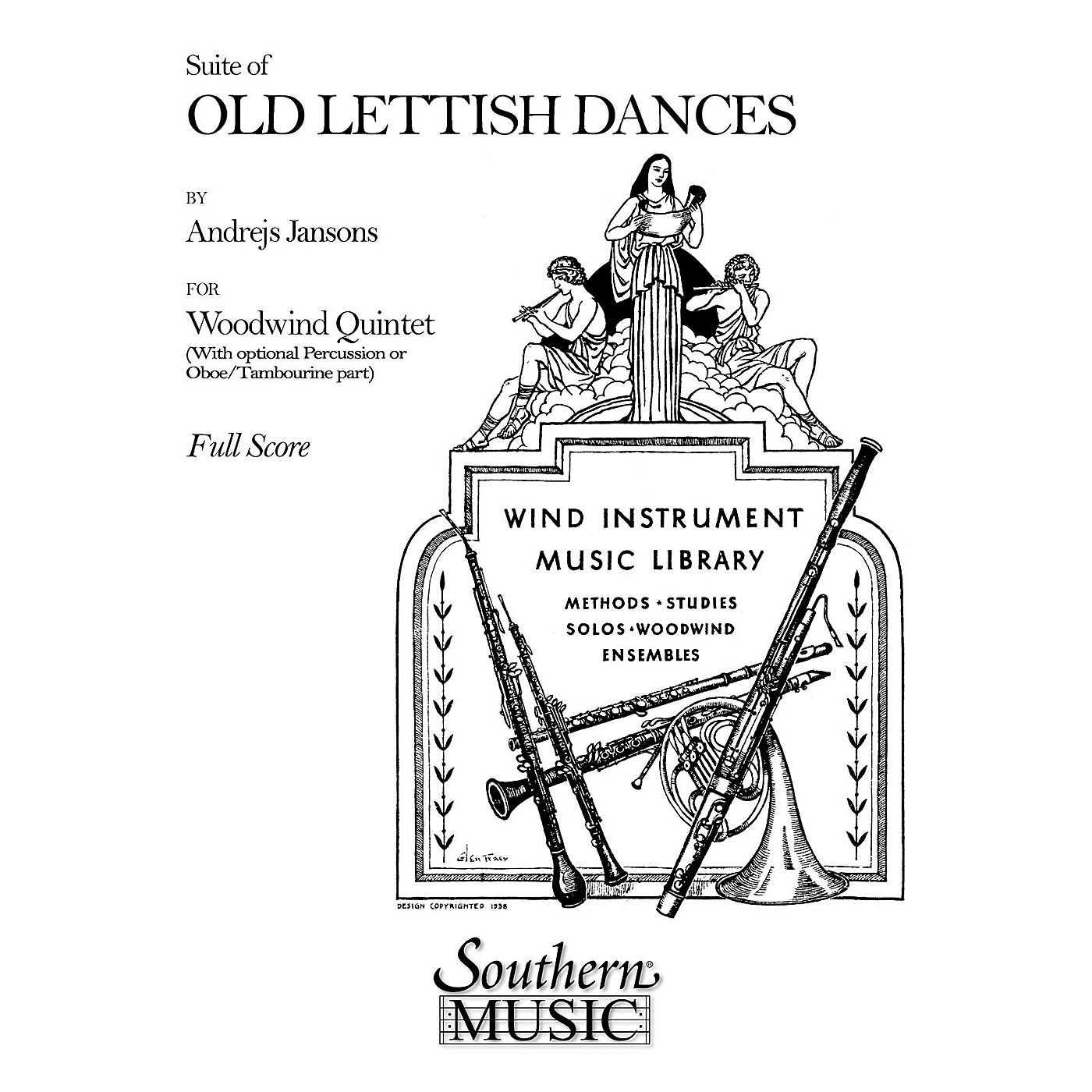 Southern Suite of Old Lettish Dances (Woodwind Quintet) Southern Music Series by Andrejs Jansons thumbnail