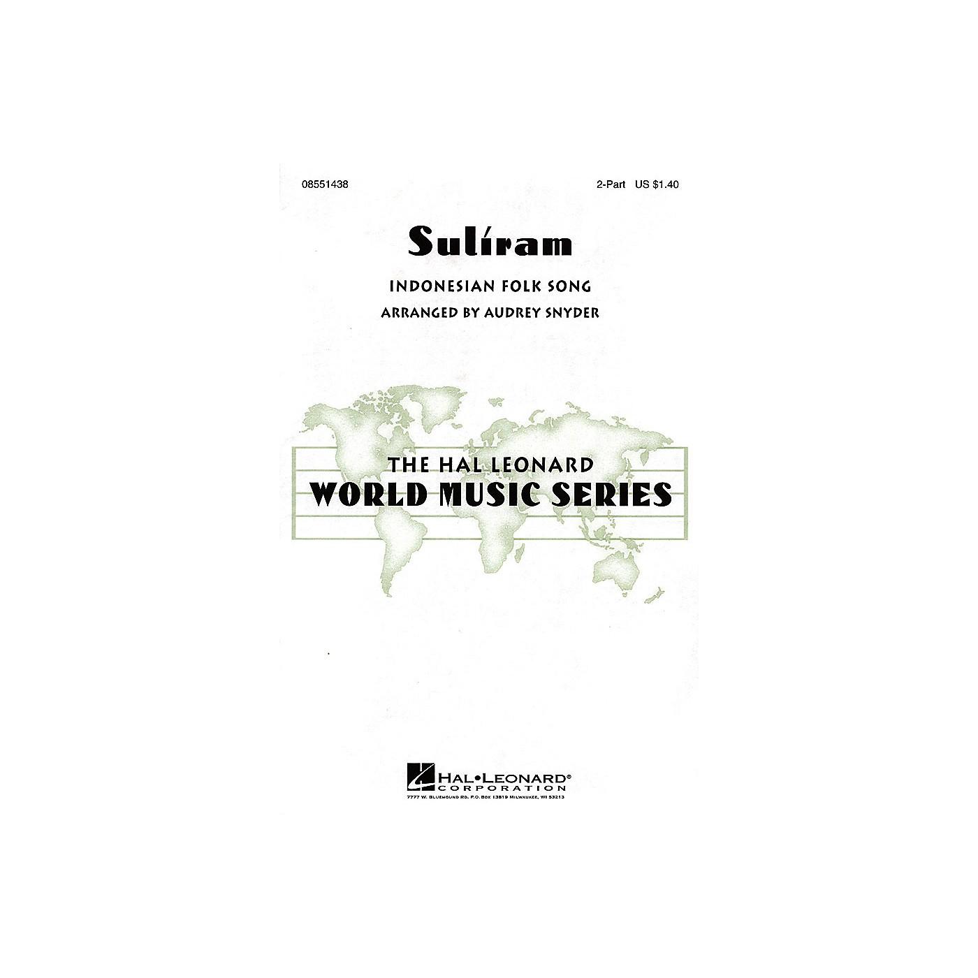 Hal Leonard Suliram 2-Part arranged by Audrey Snyder thumbnail