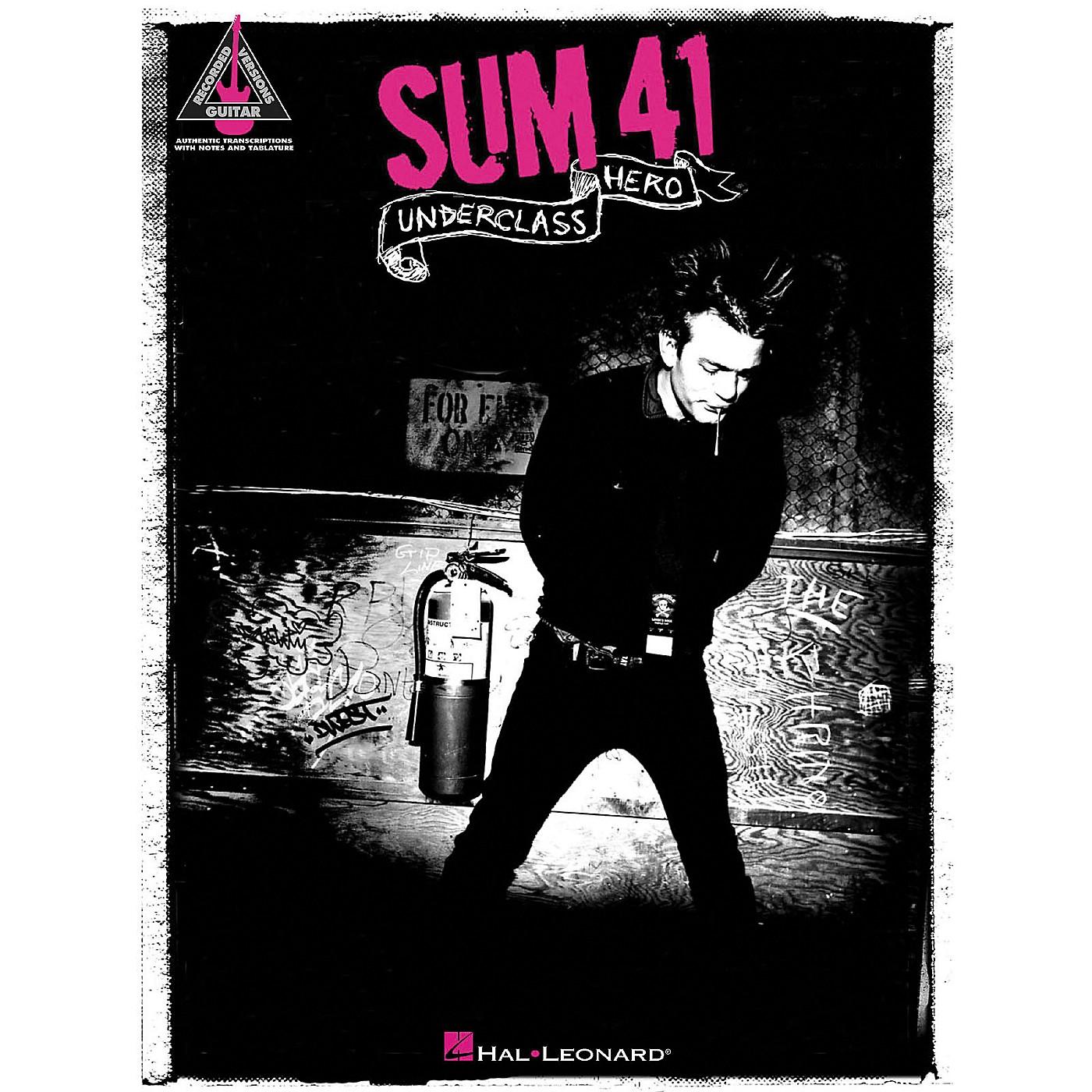 Hal Leonard Sum 41 - Underclass Hero Guitar Tab Songbook thumbnail