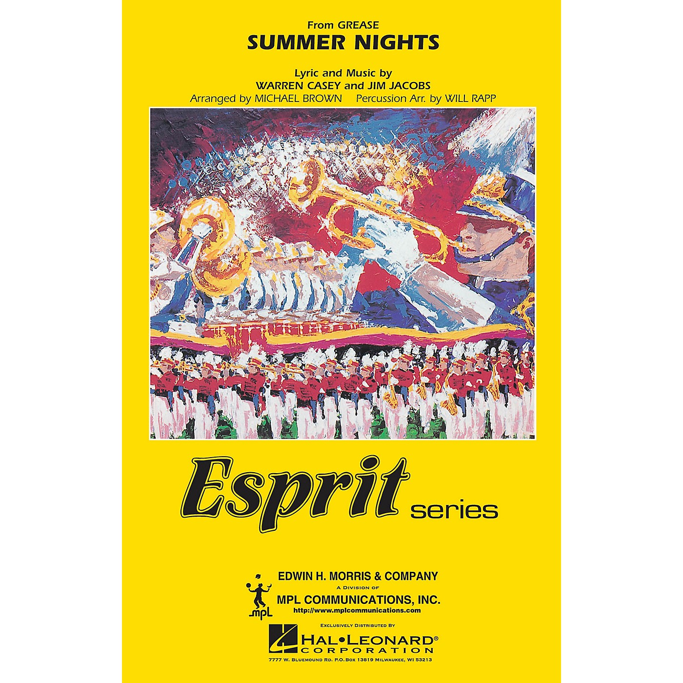 Hal Leonard Summer Nights (from GREASE) Marching Band Level 3 Arranged by Will Rapp thumbnail