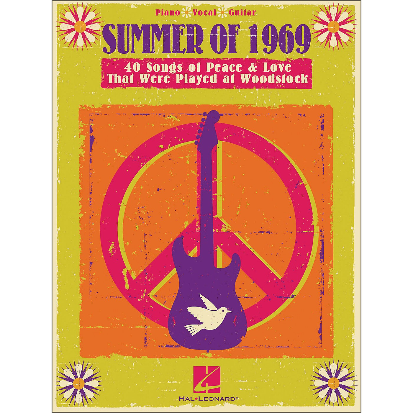 Hal Leonard Summer Of 1969 - Songs Of Peace & Love That Were Played At Woodstock arranged for piano, vocal, and guitar (P/V/G) thumbnail