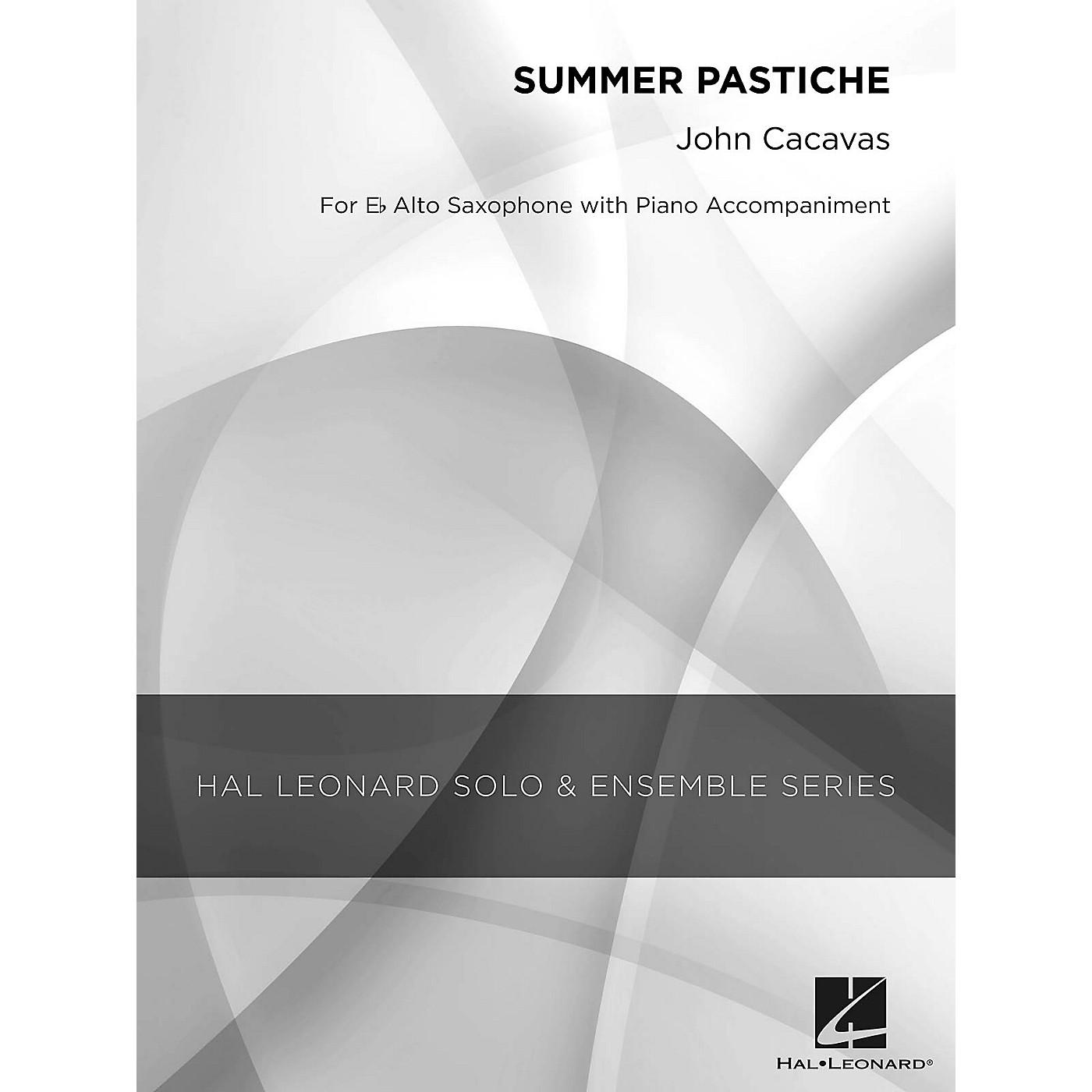 Hal Leonard Summer Pastiche (Grade 2.5 Alto Saxophone Solo) Concert Band Level 2.5 Composed by John Cacavas thumbnail