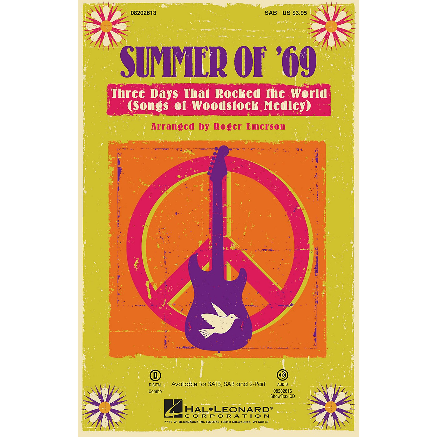 Hal Leonard Summer of '69 - Three Days That Rocked the World (Songs of Woodstock Medley) SAB by Roger Emerson thumbnail