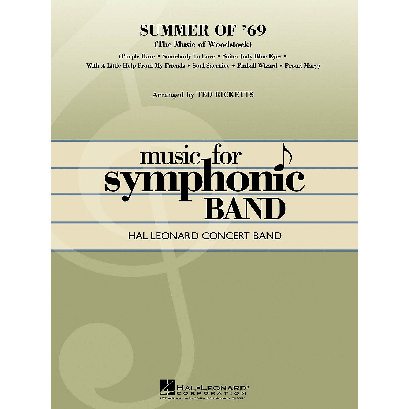 Hal Leonard Summer of '69 (The Music of Woodstock) Concert Band Level 4 Arranged by Ted Ricketts thumbnail