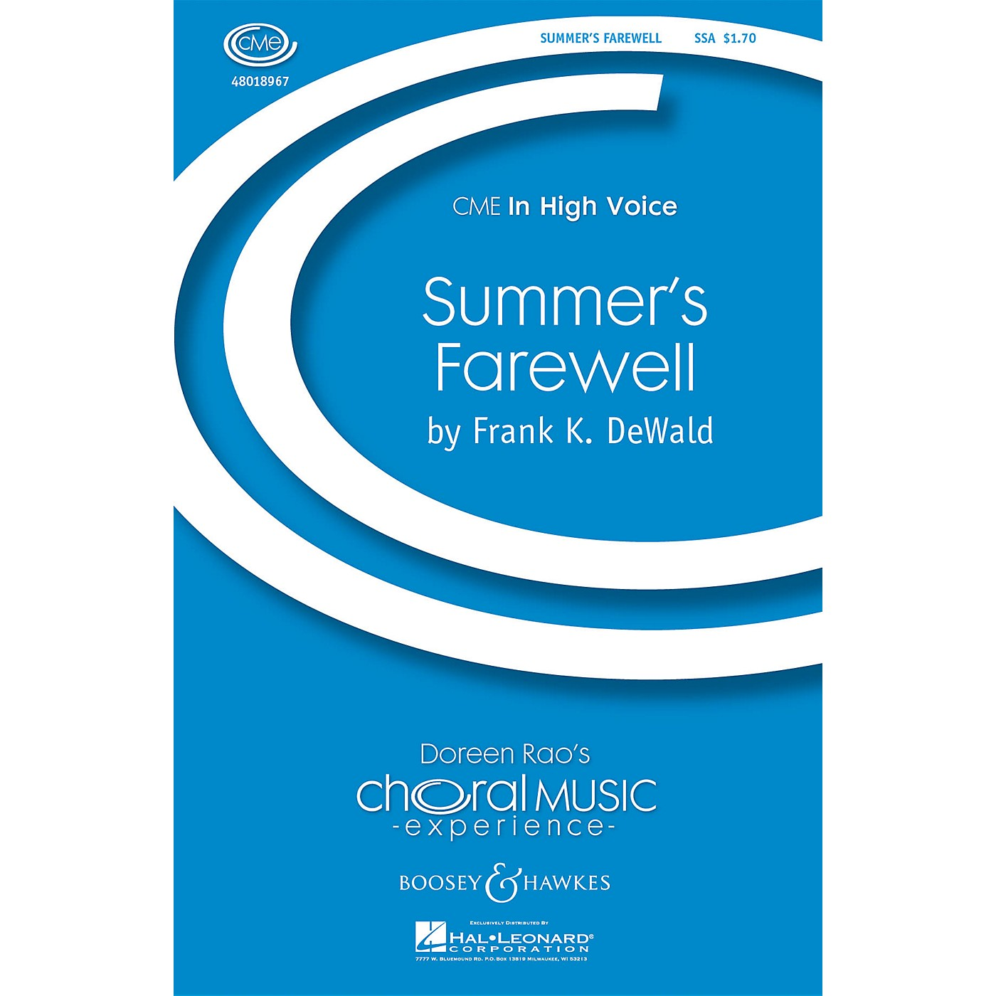 Boosey and Hawkes Summer's Farewell (CME In High Voice) SSA composed by Frank DeWald thumbnail