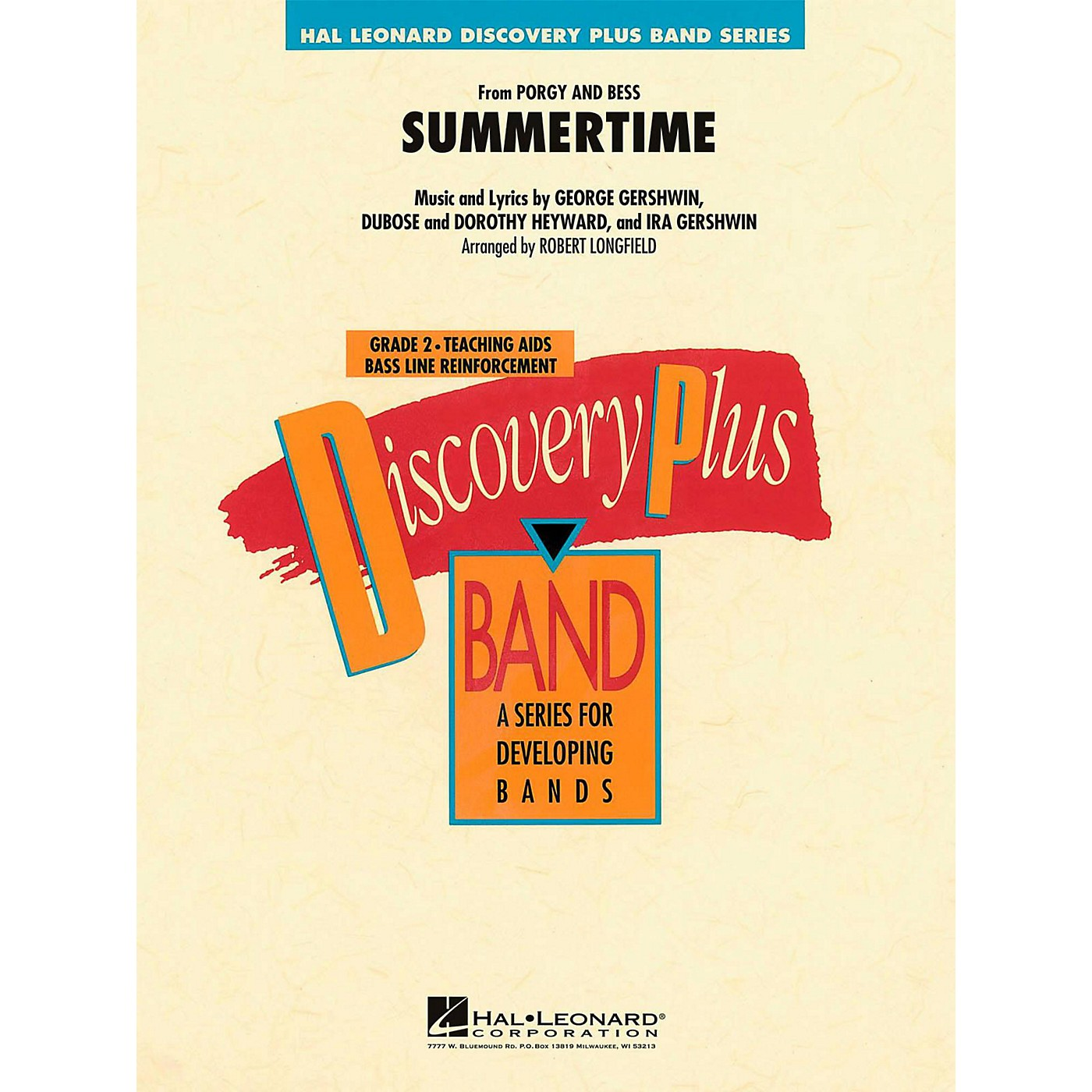 Hal Leonard Summertime (From Porgy and Bess)  - Discovery Plus Concert Band Level 2 thumbnail