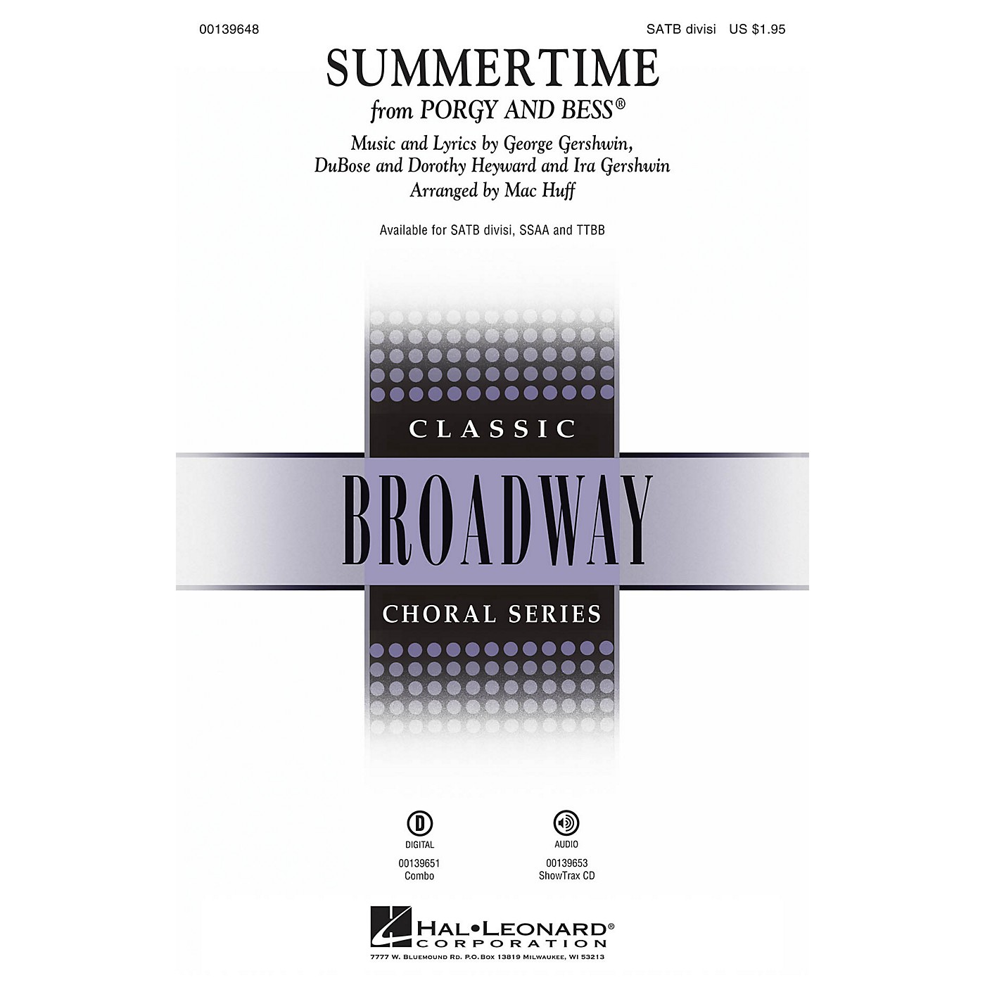 Hal Leonard Summertime (from Porgy and Bess) SATB Divisi arranged by Mac Huff thumbnail