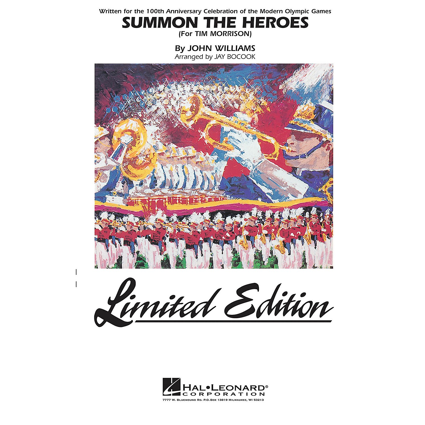 Hal Leonard Summon the Heroes Marching Band Level 5 Arranged by Jay Bocook thumbnail