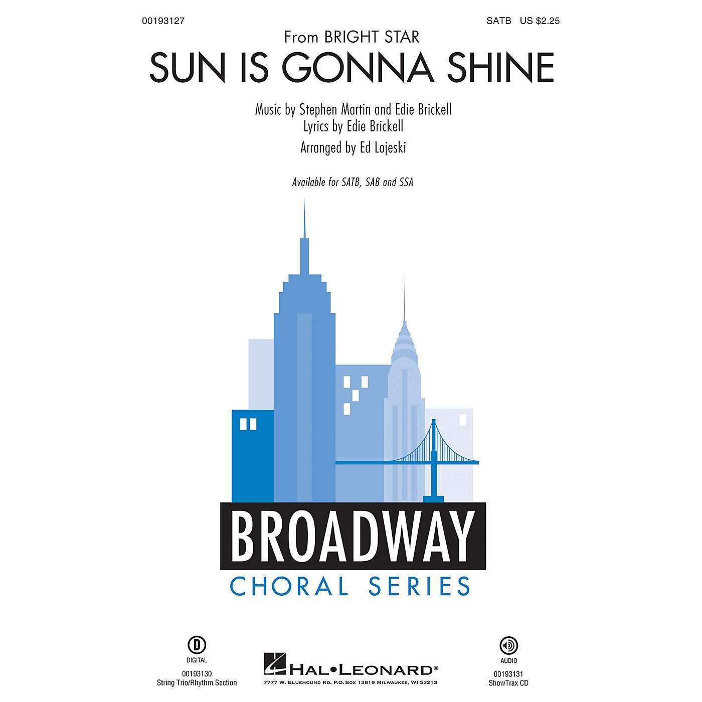 Hal Leonard Sun Is Gonna Shine (from Bright Star) SATB arranged by Ed Lojeski thumbnail
