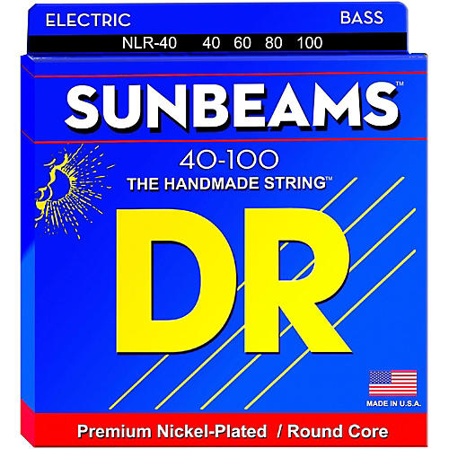 DR Strings Sunbeams NLR-40 Light 4-String Bass Strings thumbnail