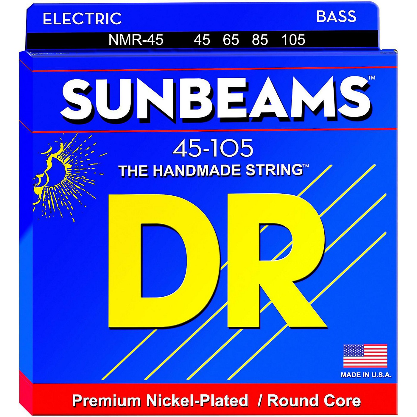 DR Strings Sunbeams NMR-45 Medium 4-String Bass Strings thumbnail
