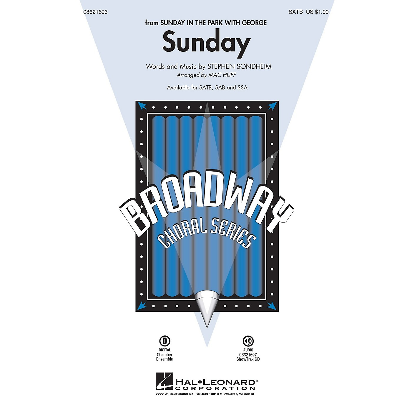 Hal Leonard Sunday (from Sunday in the Park with George) SAB Arranged by Mac Huff thumbnail