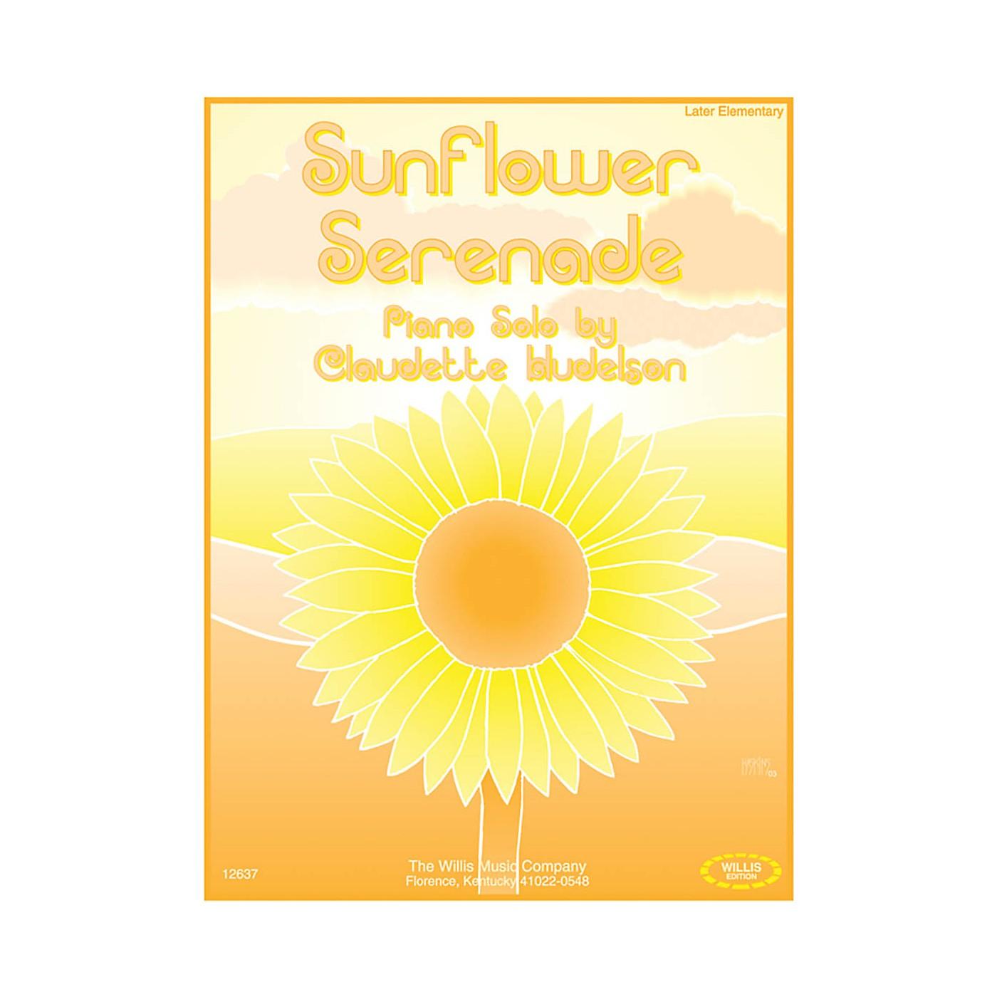 Willis Music Sunflower Serenade (Later Elem Level) Willis Series by Claudette Hudelson thumbnail