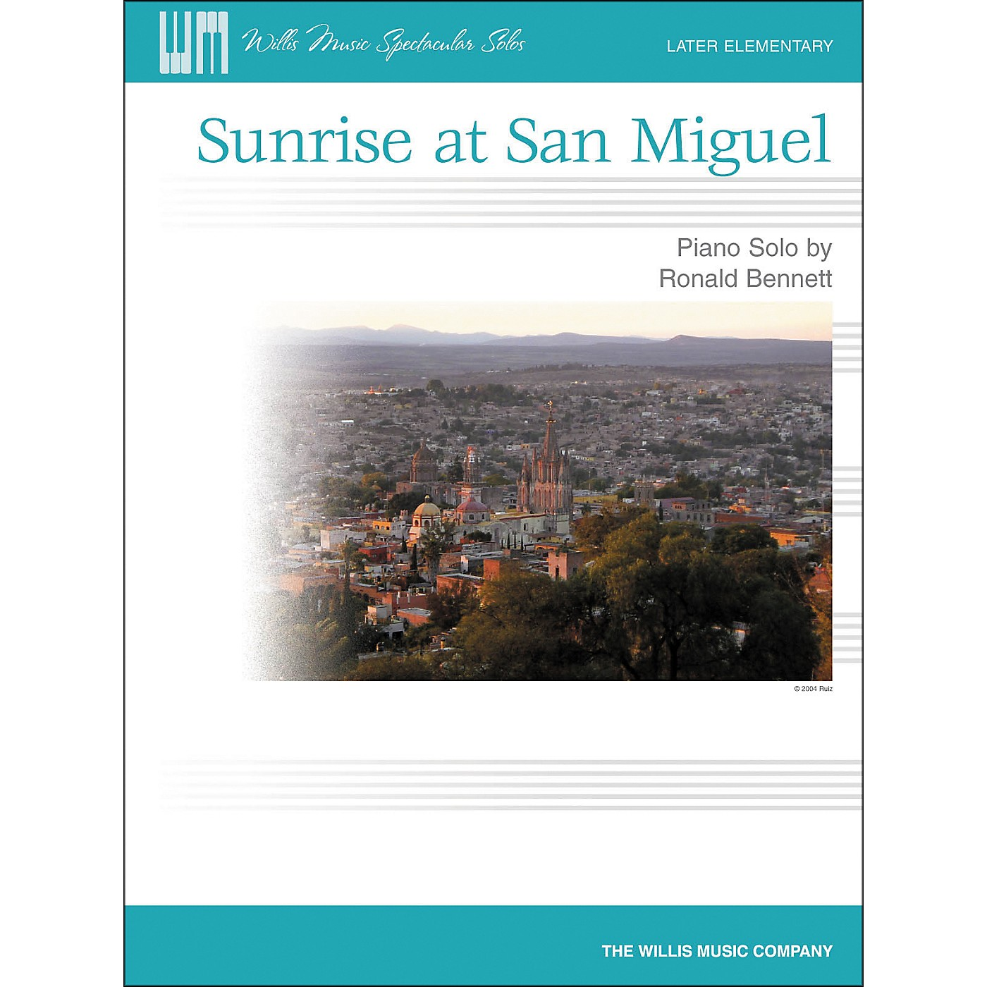 Willis Music Sunrise At San Miguel - Later Elementary Piano Solo by Ronald Bennett thumbnail