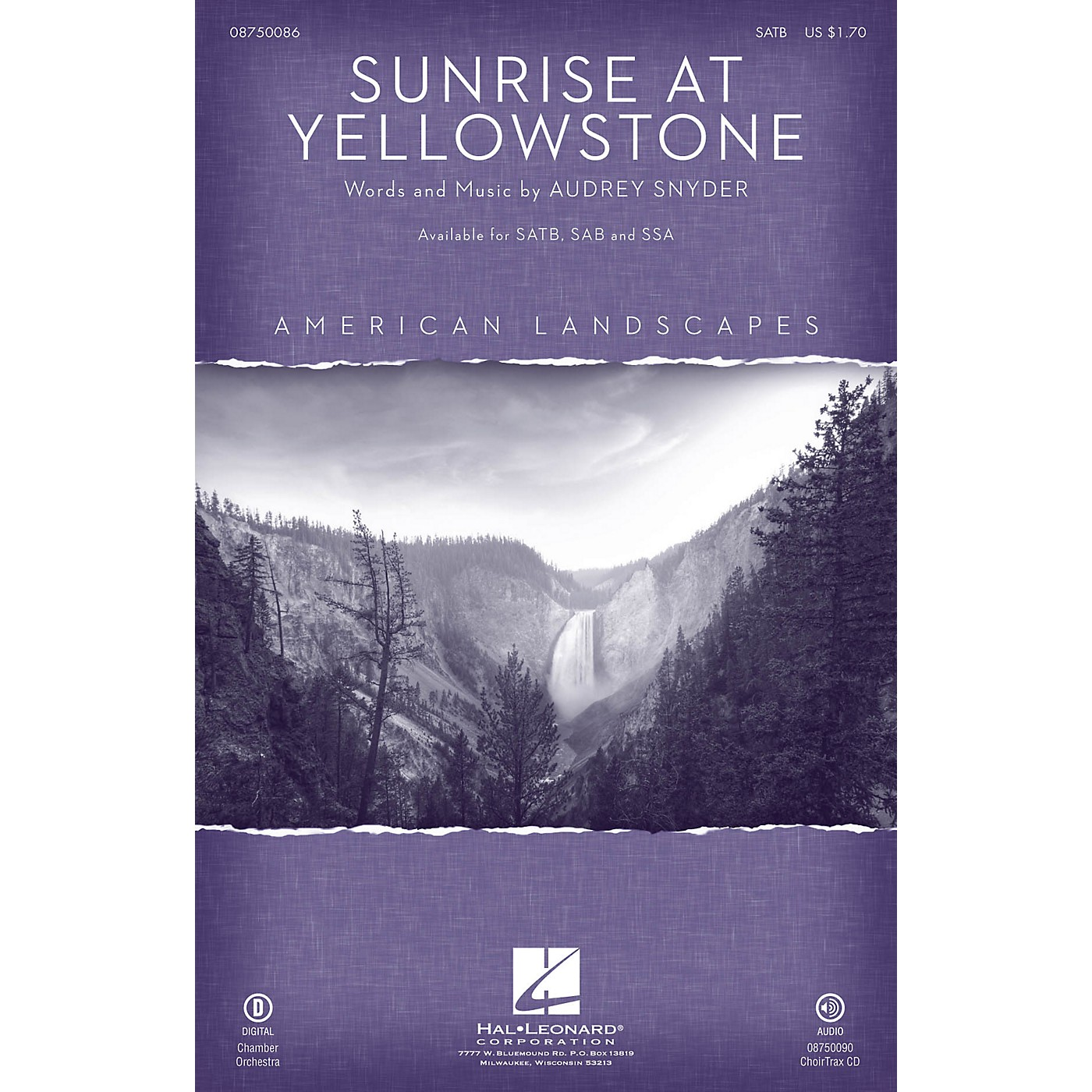 Hal Leonard Sunrise at Yellowstone (from American Landscapes) CHOIRTRAX CD thumbnail