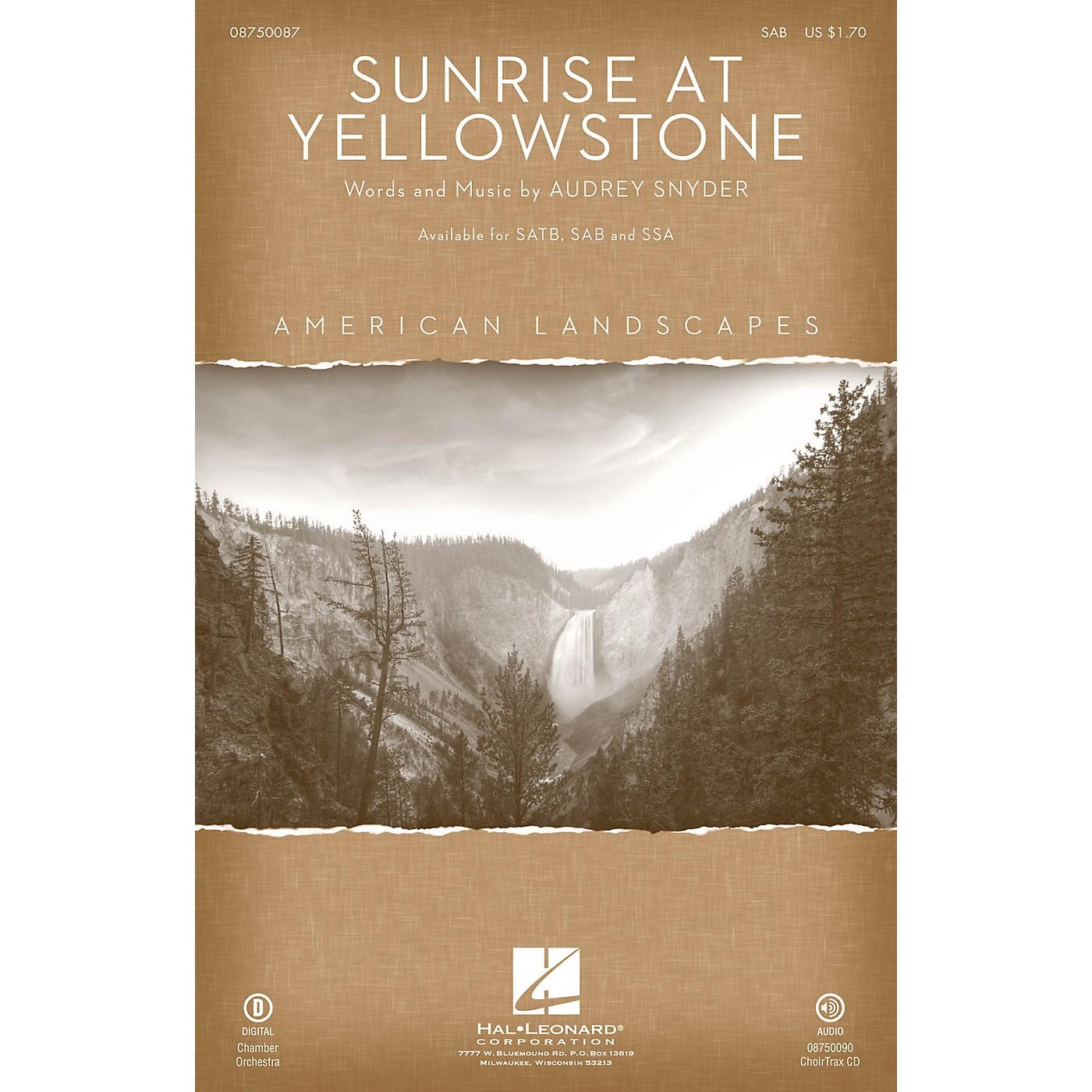 Hal Leonard Sunrise at Yellowstone (from American Landscapes) SAB thumbnail