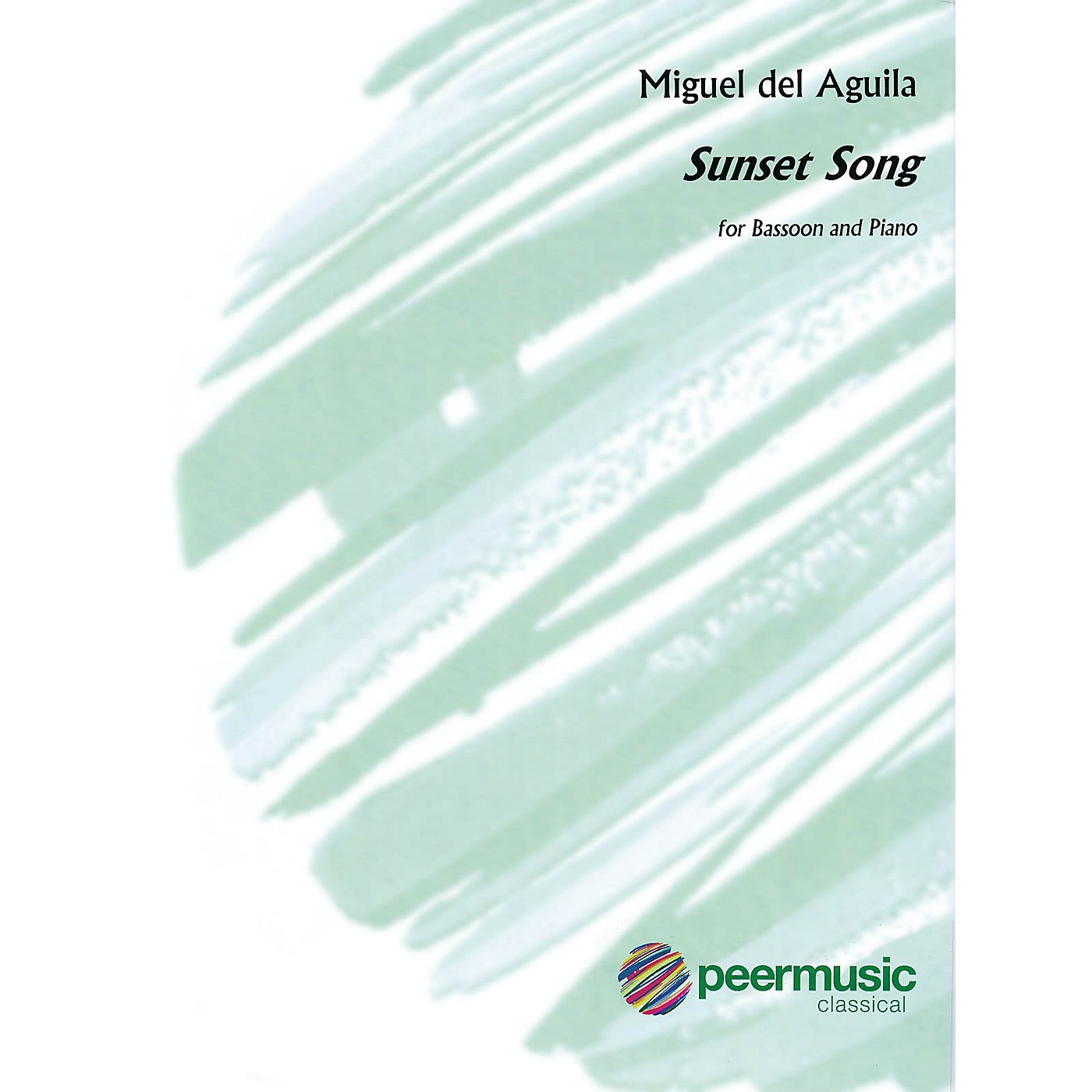 Peer Music Sunset Song (Bassoon and Piano) Peermusic Classical Series Book by Miguel del Aguila thumbnail