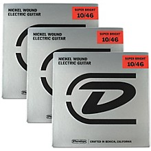 Dunlop Super Bright Medium Nickel Wound Electric Guitar Strings (10-46) 3-Pack