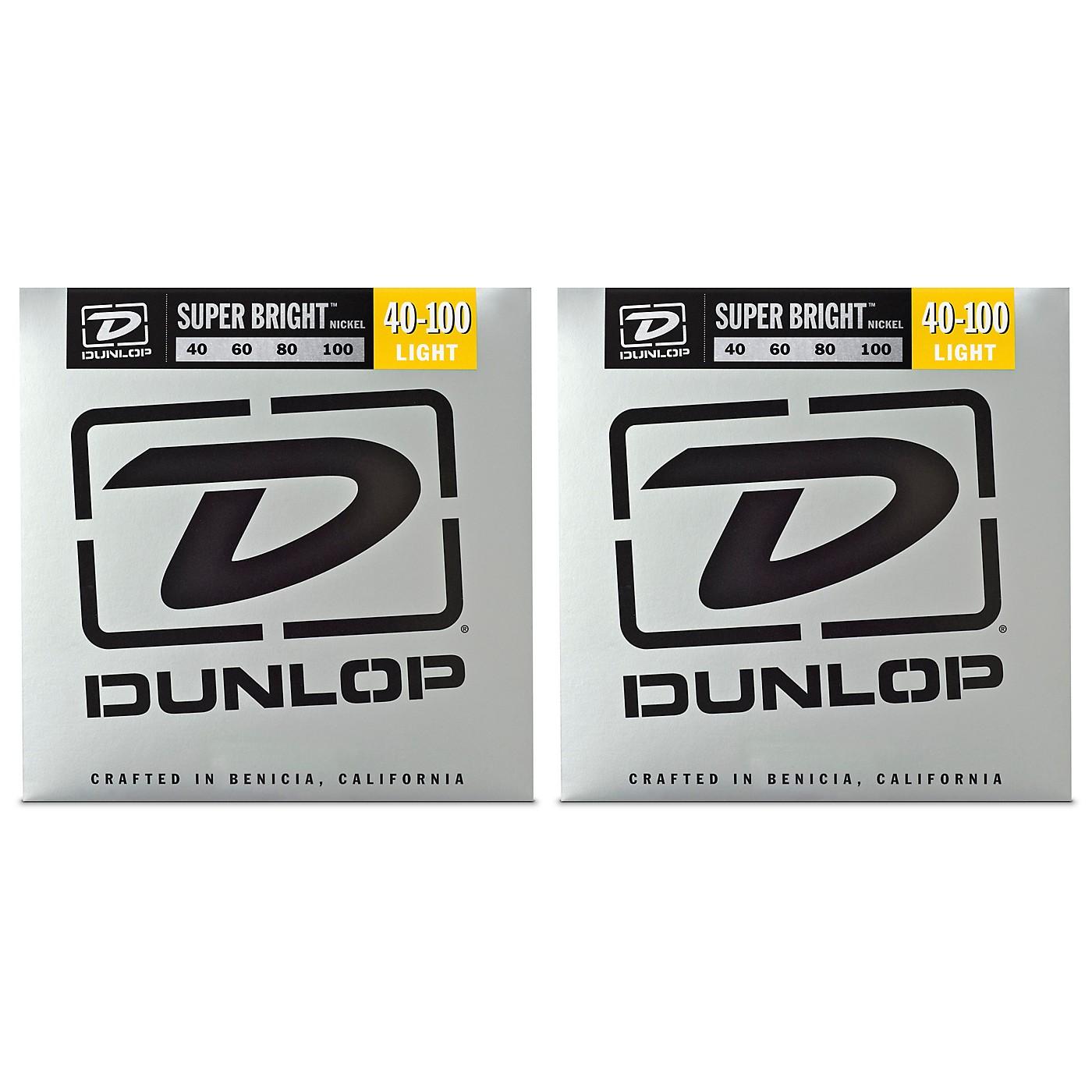 Dunlop Super Bright Nickel Light 4-String Bass Guitar Strings (40-100) 2-Pack thumbnail