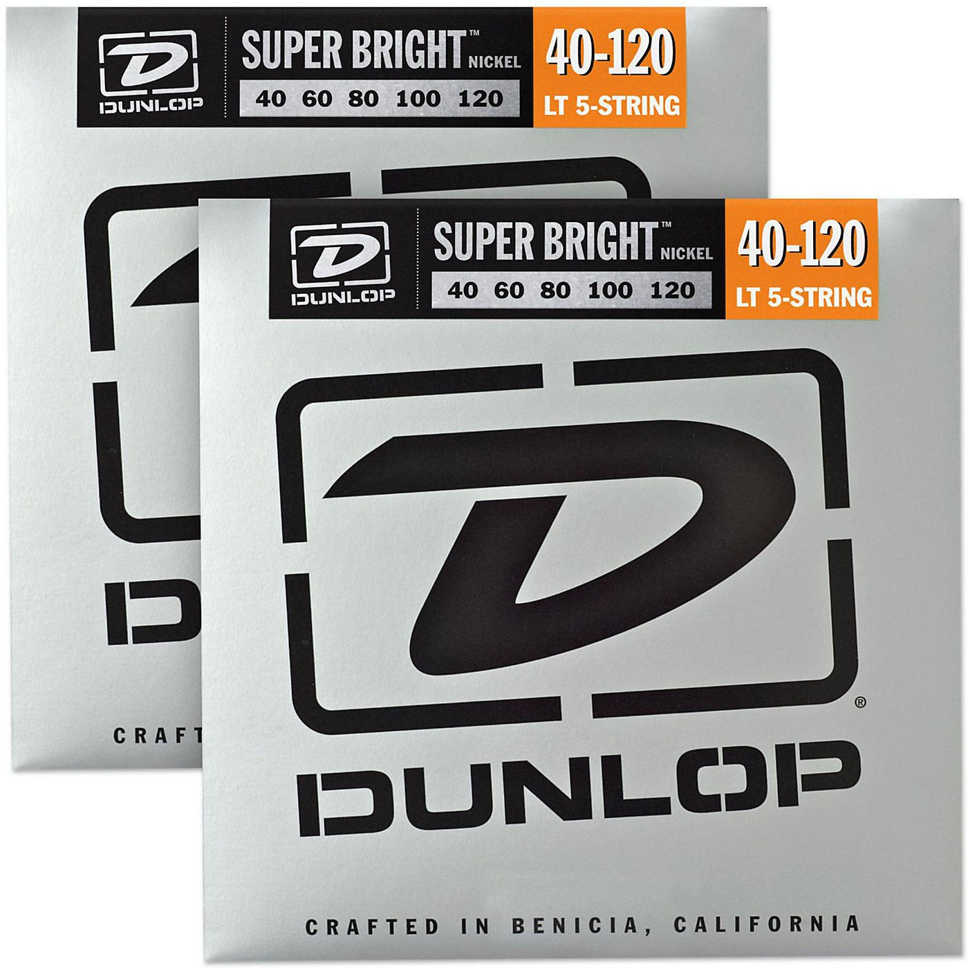 Dunlop Super Bright Nickel Light 5-String Bass Guitar Strings (4-120) 2-Pack thumbnail