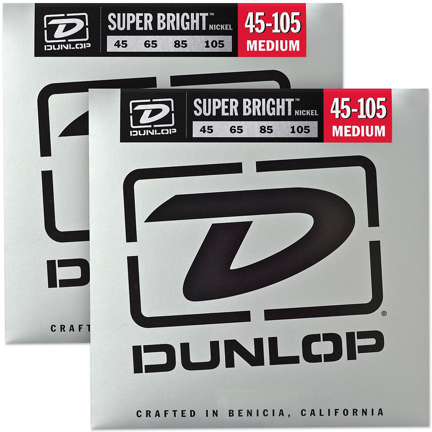Dunlop Super Bright Nickel Medium 4-String Bass Guitar Strings (4-105) 2-Pack thumbnail