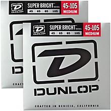 Dunlop Super Bright Nickel Medium 4-String Bass Guitar Strings (4-105) 2-Pack