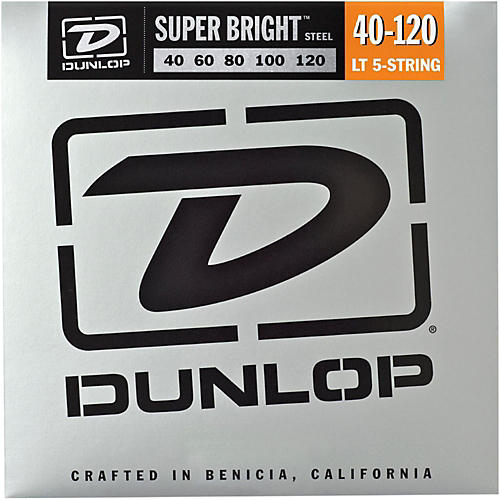 Dunlop Super Bright Steel Light 5-String Bass Guitar Strings thumbnail