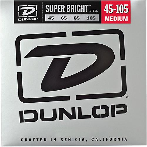 Dunlop Super Bright Steel Medium 4-String Bass Guitar Strings thumbnail