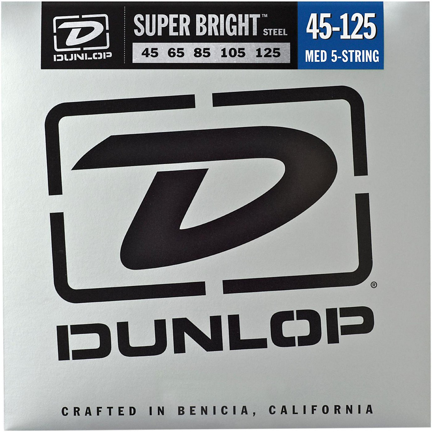 Dunlop Super Bright Steel Medium 5-String Bass Guitar Strings thumbnail