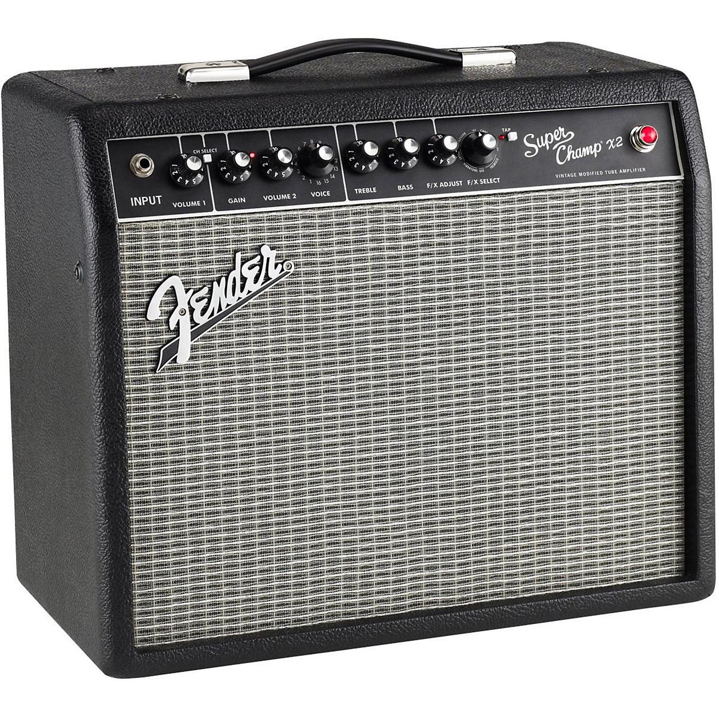 Fender Super-Champ X2 15W 1x10 Tube Guitar Combo Amp thumbnail
