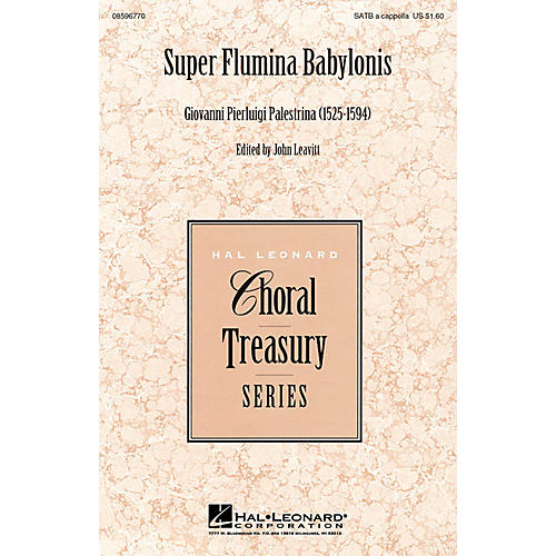 Hal Leonard Super Flumina Babylonis SATB a cappella arranged by John Leavitt thumbnail