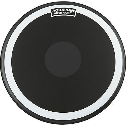 Aquarian Super-Kick III Black Drumhead thumbnail