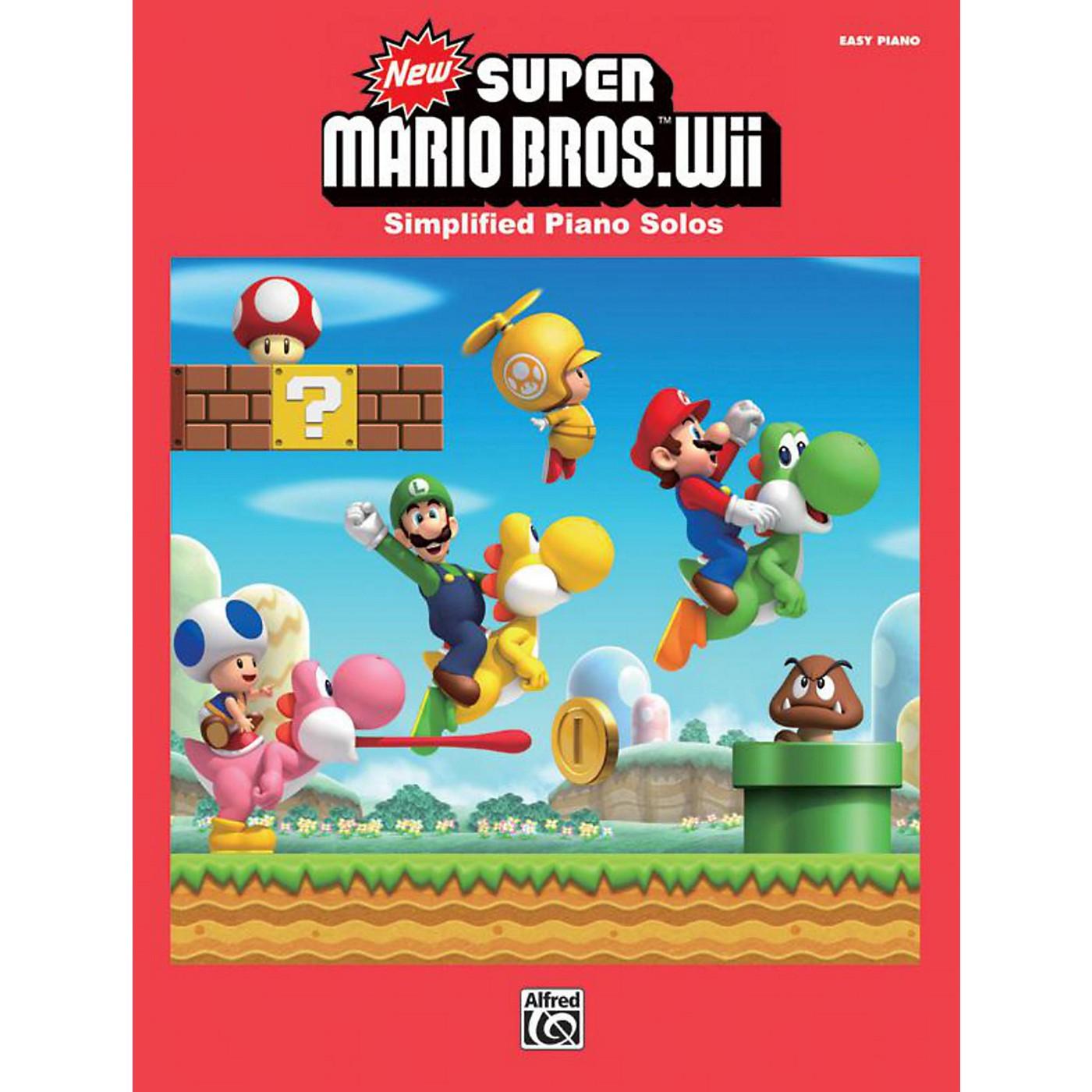 Alfred Super Mario Bros. Wii Easy Piano Book thumbnail