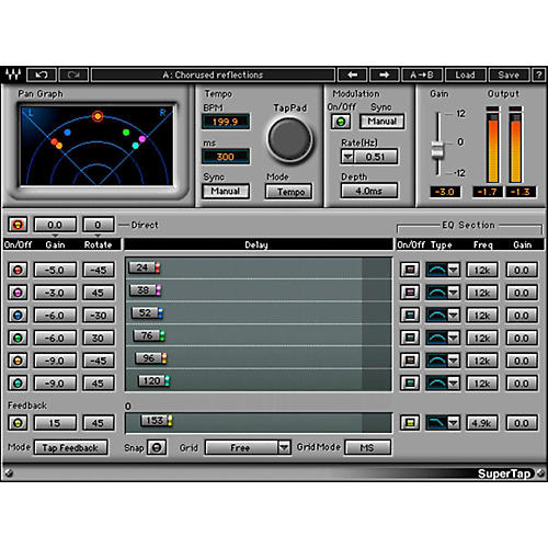 Waves SuperTap Native Modulation Software Plug-In Software Download thumbnail