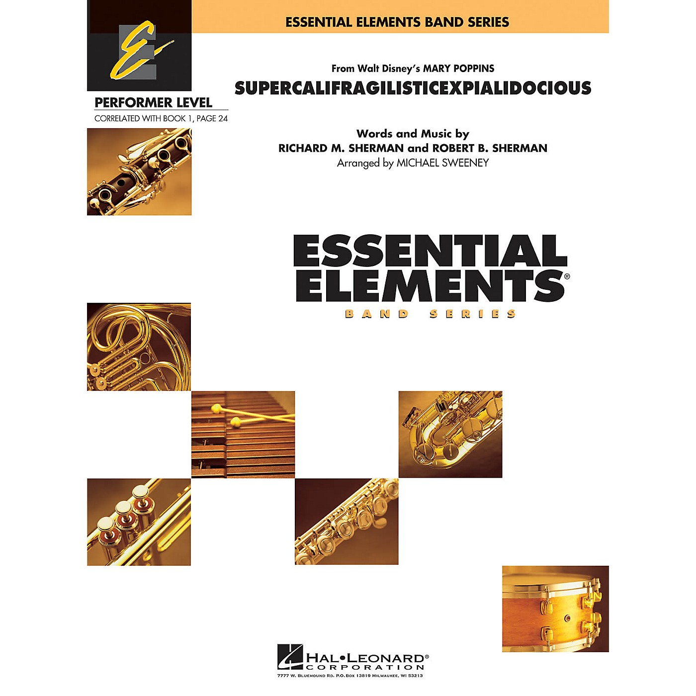 Hal Leonard Supercalifragilisticexpialidocious (from Mary Poppins) Concert Band Level .5 to 1 by Michael Sweeney thumbnail