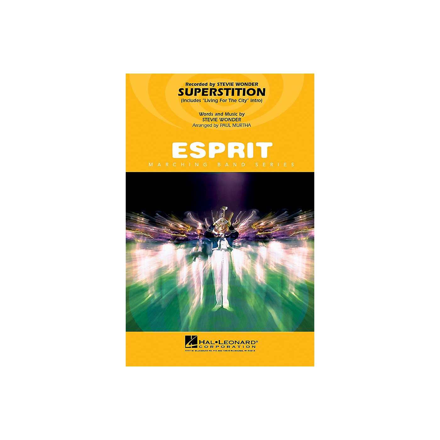 Hal Leonard Superstition (includes Living for the City intro) Marching Band Level 3 Arranged by Paul Murtha thumbnail
