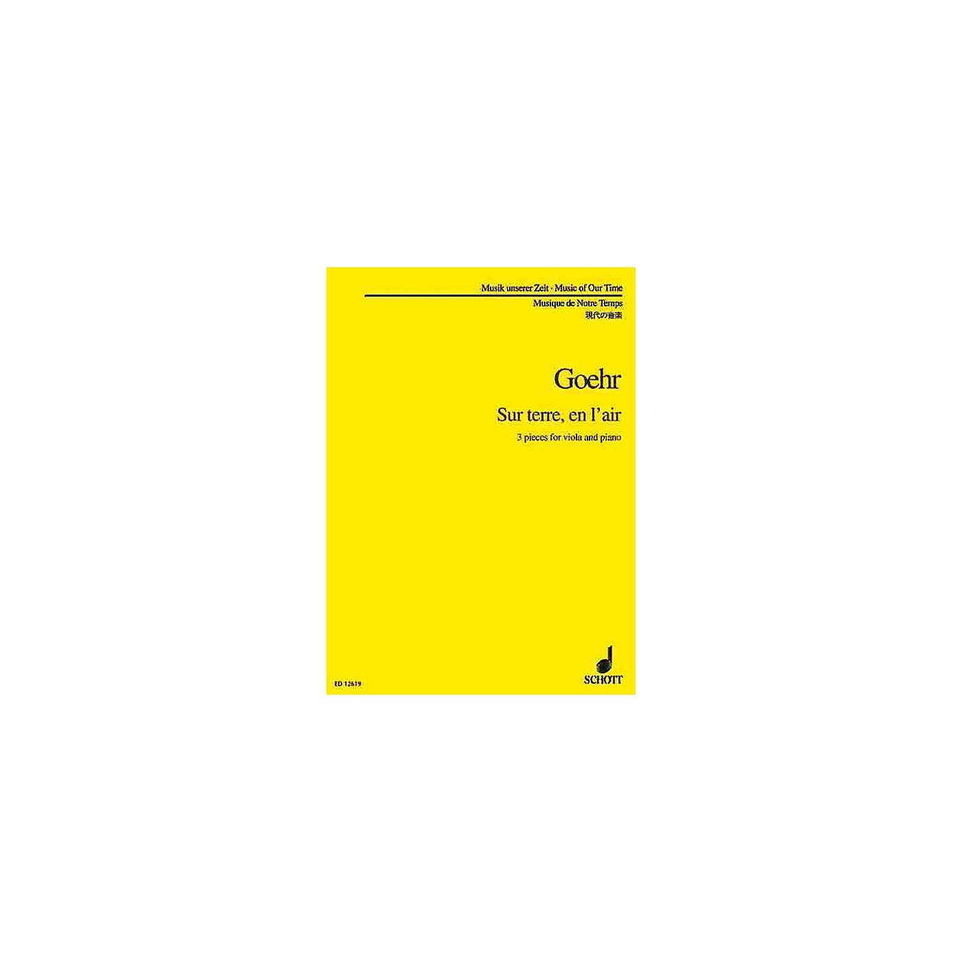 Schott Sur Terre en l'Air (Viola and Piano) Schott Series Composed by Alexander Goehr thumbnail