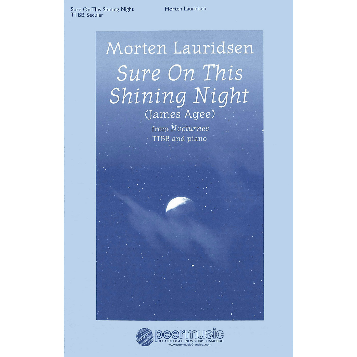 Peer Music Sure on This Shining Night (Nocturnes, No. 3) TTBB Composed by Morten Lauridsen thumbnail