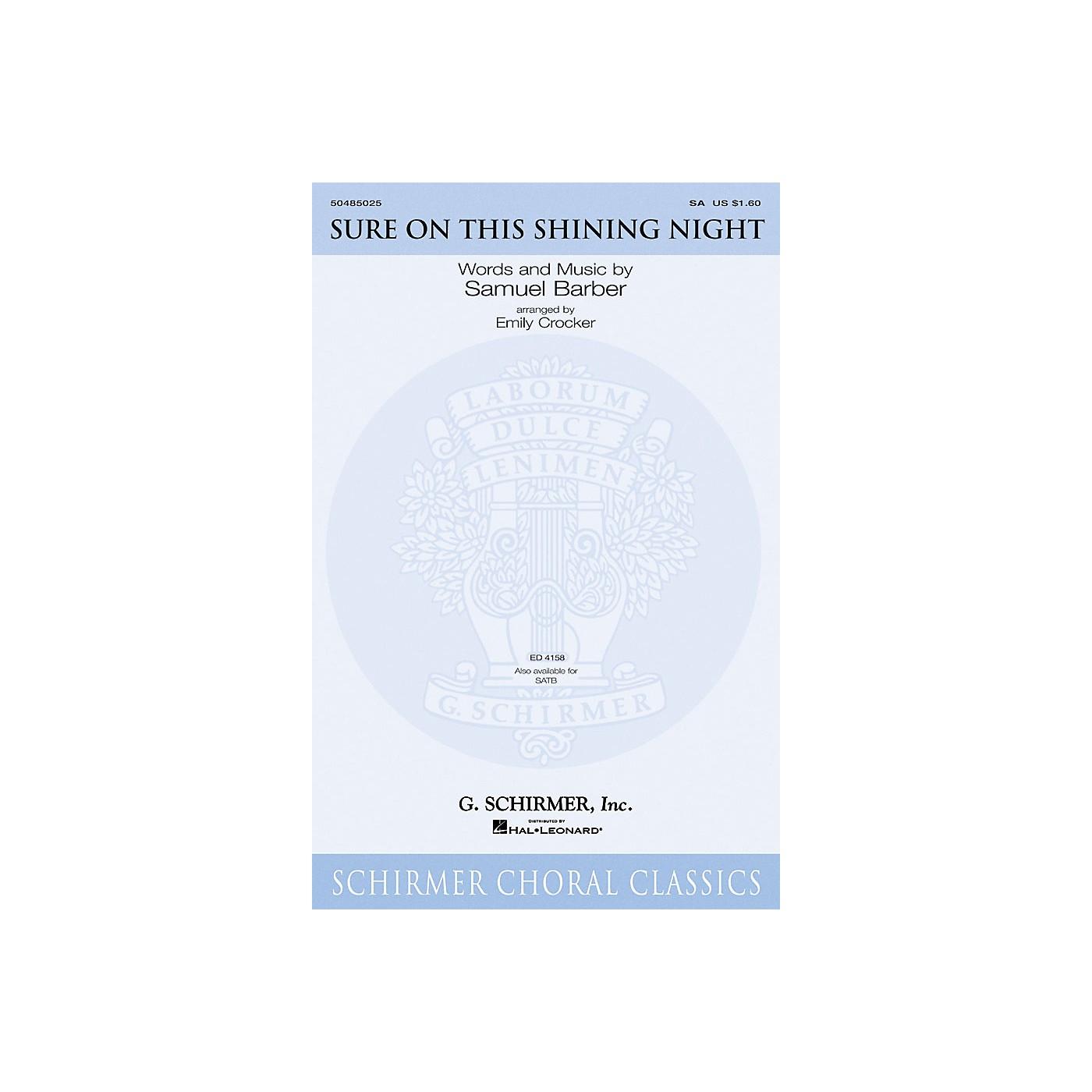 G. Schirmer Sure on This Shining Night SATB Arranged by Emily Crocker thumbnail
