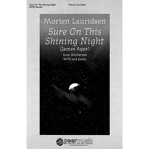 Peer Music Sure on This Shining Night (from Nocturnes SATB and Piano) Composed by Morten Lauridsen thumbnail