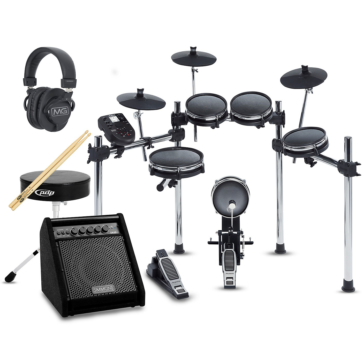 Alesis Surge Mesh-Head Complete Electronic Drum Set with Simmons DA50B Monitor thumbnail