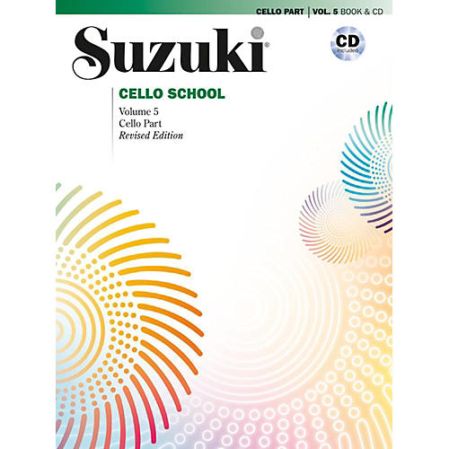 Suzuki Suzuki Cello School Cello Part & CD, Volume 5 Book & CD (Revised) thumbnail