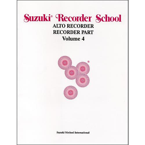 Alfred Suzuki Recorder School (Alto Recorder) Recorder Part Volume 4-thumbnail