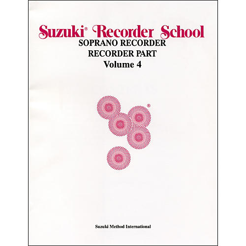 Alfred Suzuki Recorder School (Soprano Recorder) Recorder Part Volume 4 thumbnail