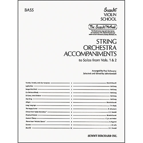 Alfred Suzuki String Orchestra Accompaniments, Bass (Book) thumbnail