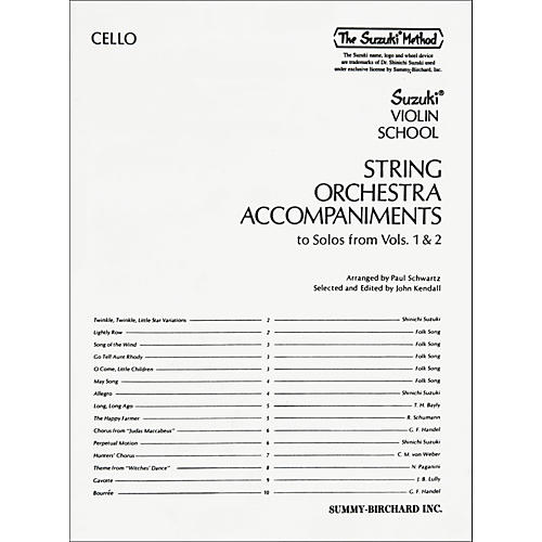 Alfred Suzuki String Orchestra Accompaniments to Solos from Volumes 1 & 2 for Cello Book thumbnail