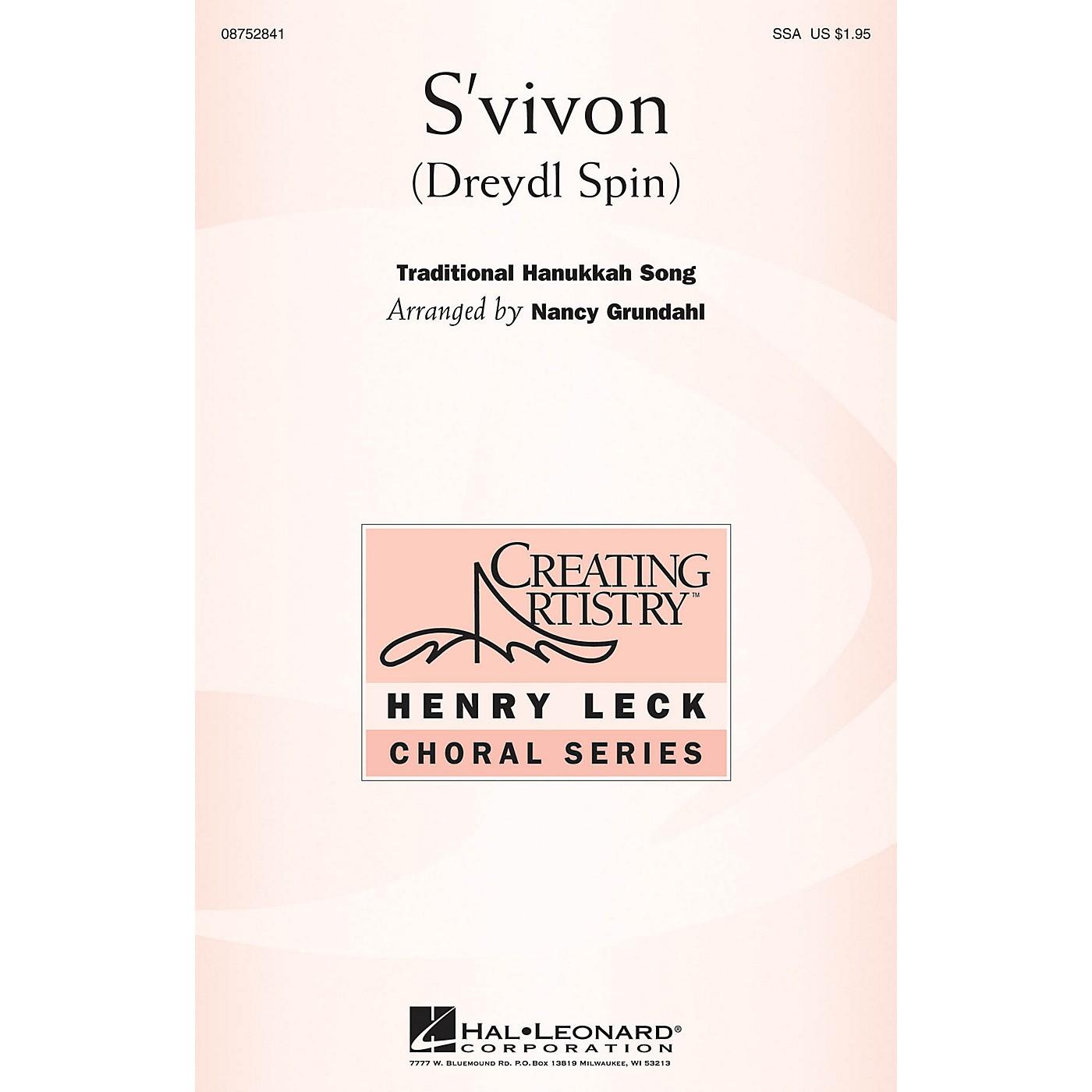Hal Leonard S'vivon (Dreidel Spin) (Dreydl Spin) SSA arranged by Nancy Grundahl thumbnail