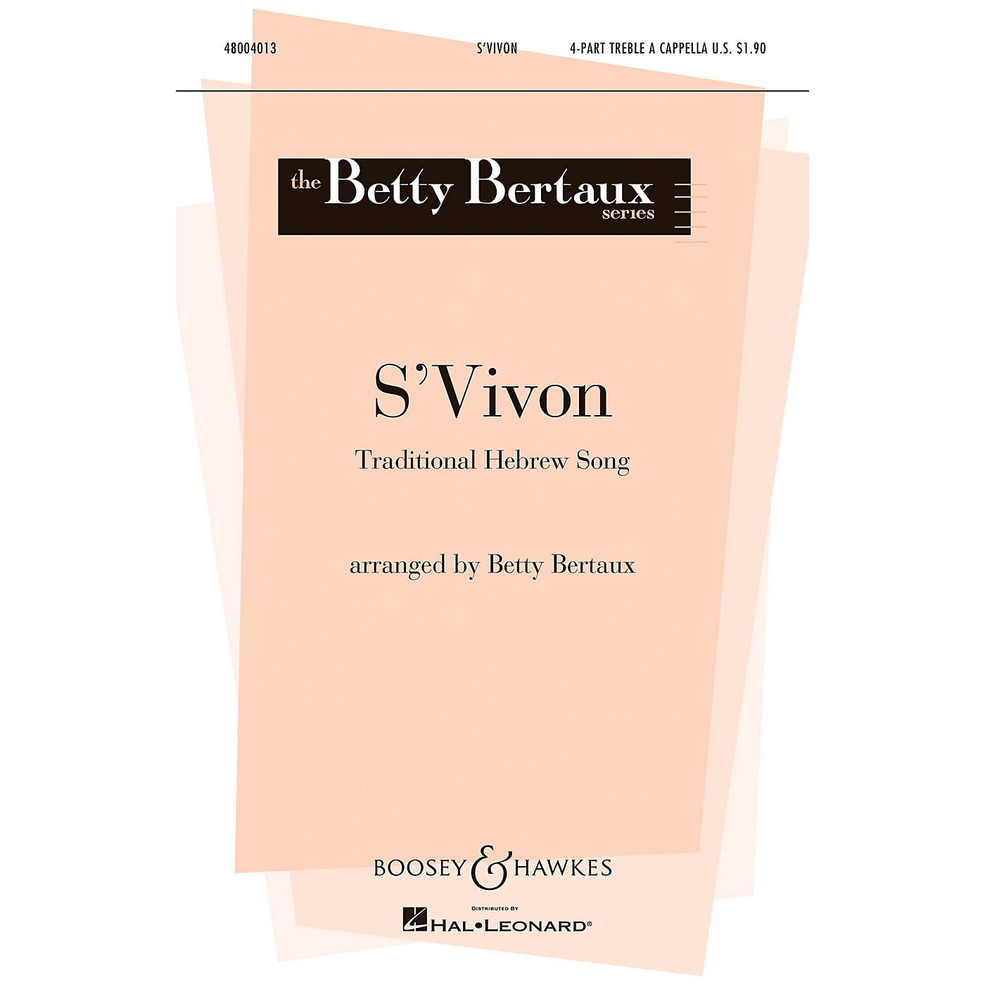 Boosey and Hawkes S'vivon (The Dreydl Song) (4-Part Treble a cappella) 4 Part Treble A Cappella arranged by Betty Bertaux thumbnail
