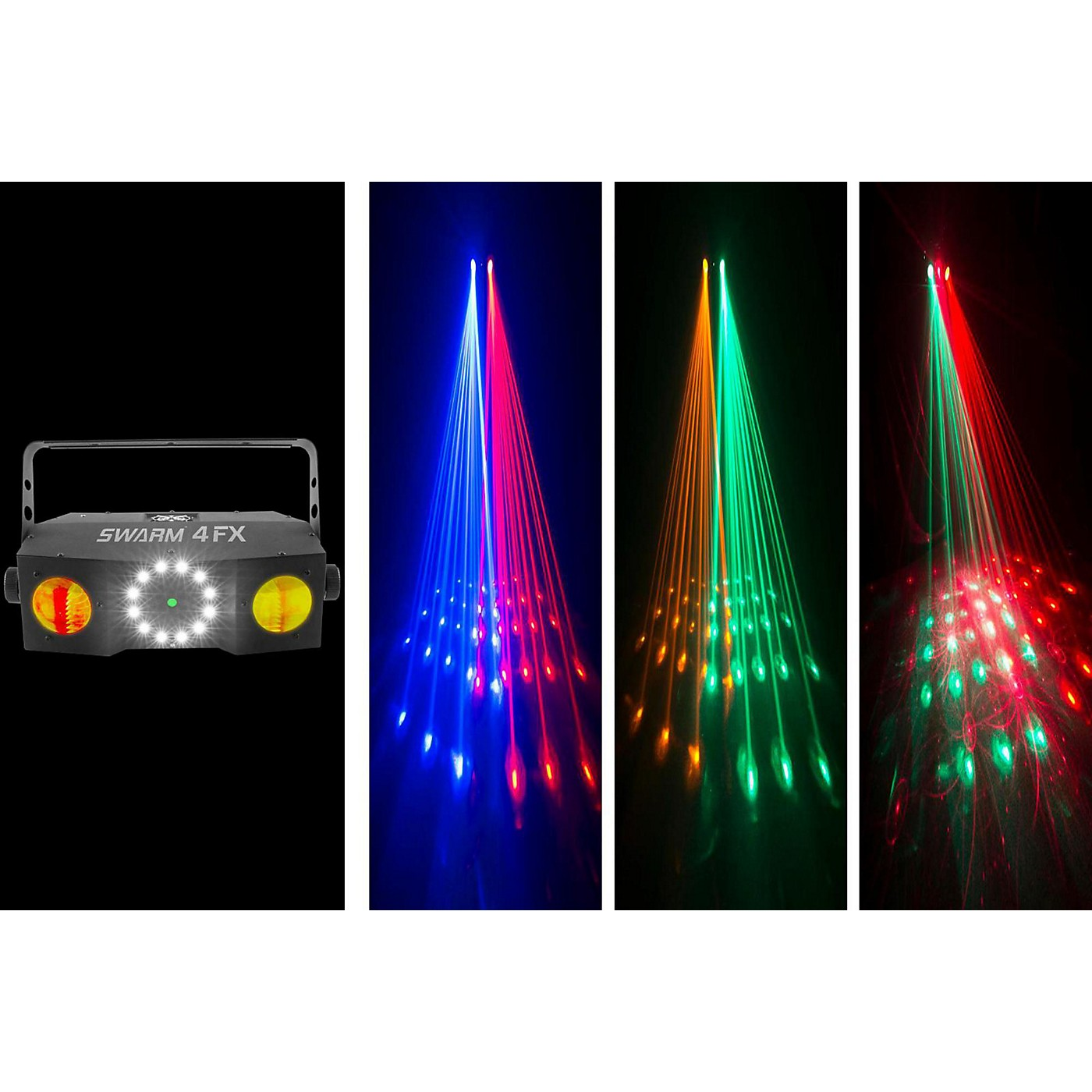 CHAUVET DJ Swarm 4 FX Stage Laser Party Light with LED Wash and Strobe Light Effects thumbnail